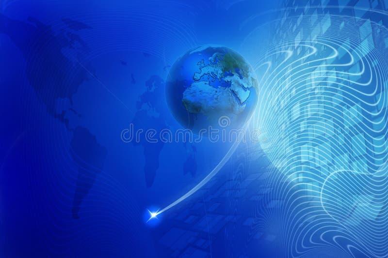 Blue digital background royalty free stock photo