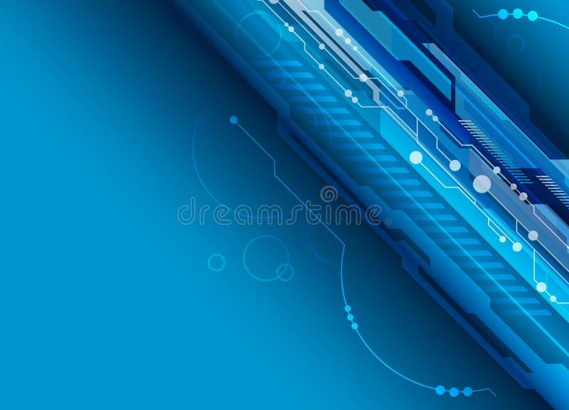 Download Blue digital background stock vector. Illustration of circuit - 25924792