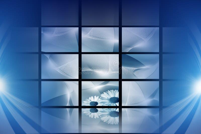 Blue digital space stock image