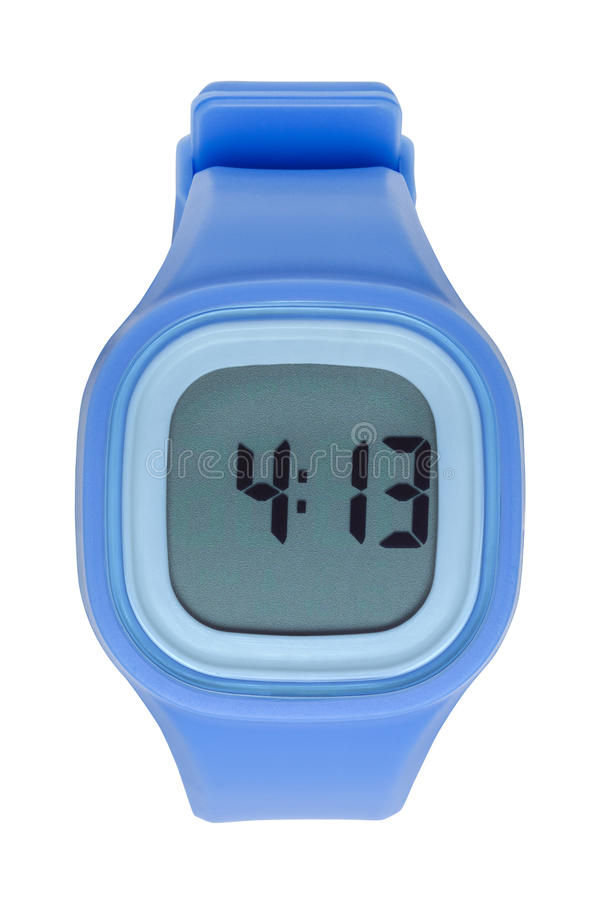 Blue Digital Watch stock photos