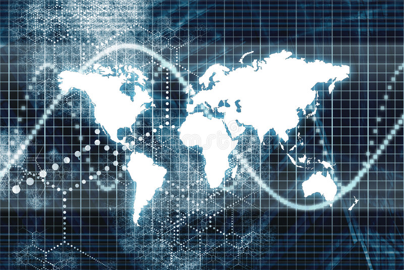 Blue Digital World Business Abstract stock illustration