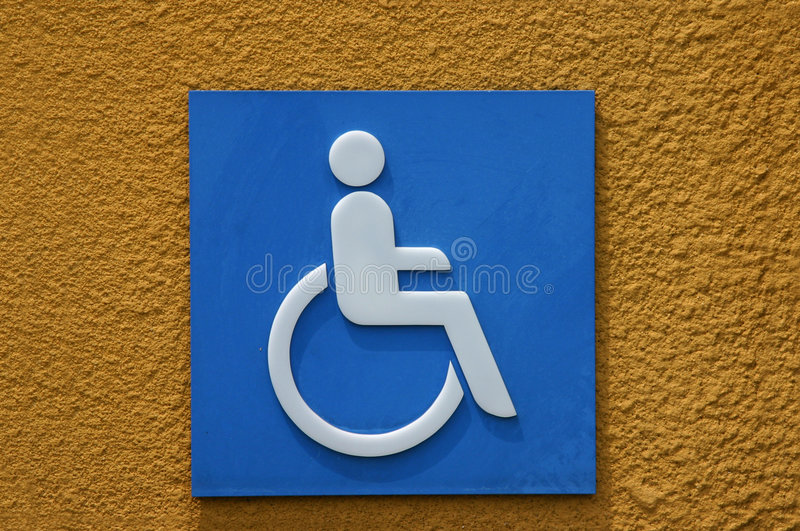 Blue Disabled Sign royalty free stock photo