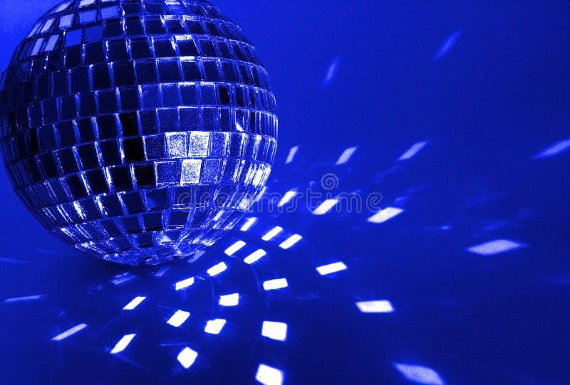Blue disco ball stock photos