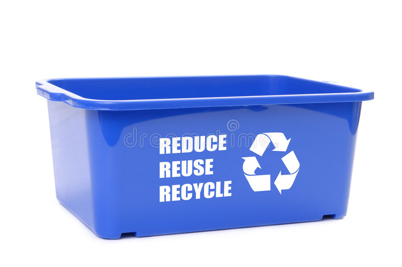 Blue Disposal Container Royalty Free Stock Photos