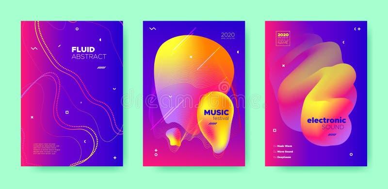 Blue Dj Layout. Electronic Sound. Purple royalty free illustration