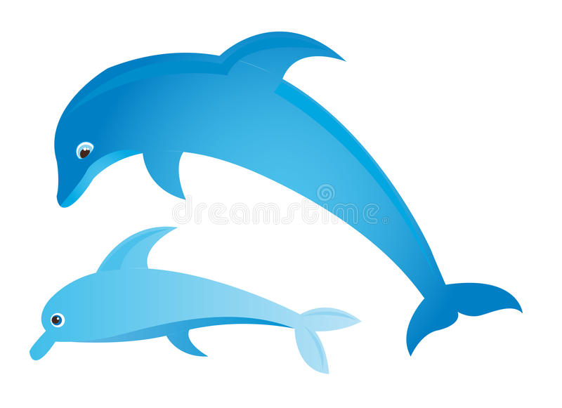 Download Blue dolphin stock vector. Image of ocean, pool, intelligence - 21477267