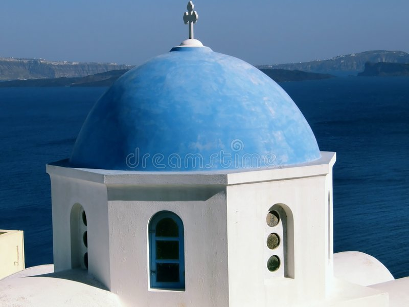 Blue dome royalty free stock photo