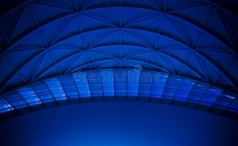 Blue Dome Roof. A blue dome roof with arches stock images