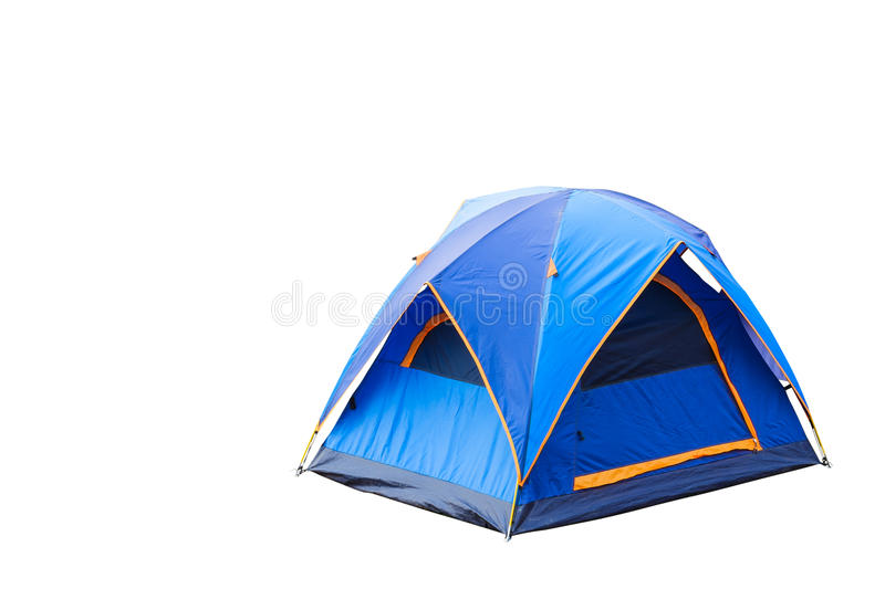 Blue dome tent. Isolated blue dome tent with clipping path stock image