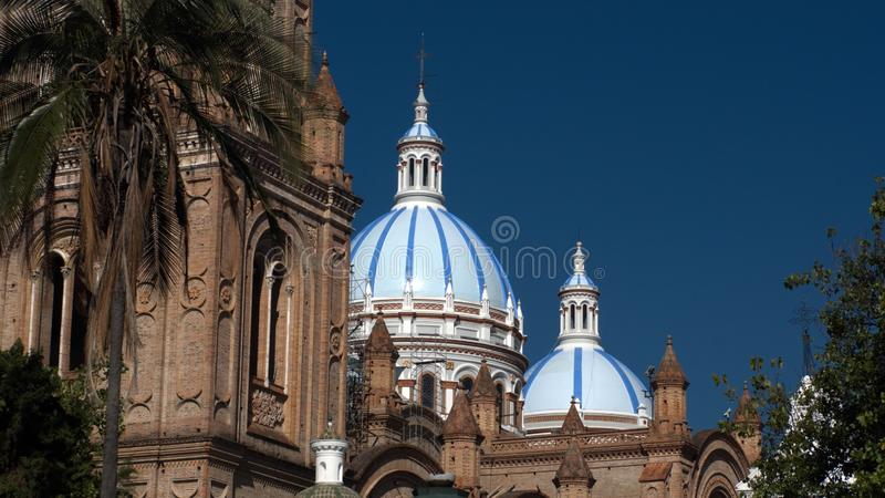 Blue domes on the New Cathedral stock photo