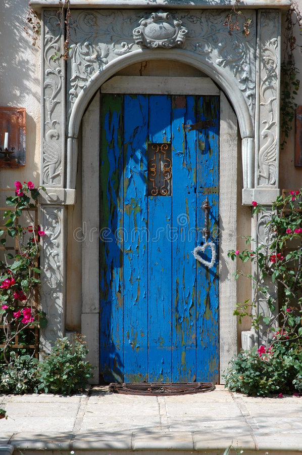 Blue Door. stock photography