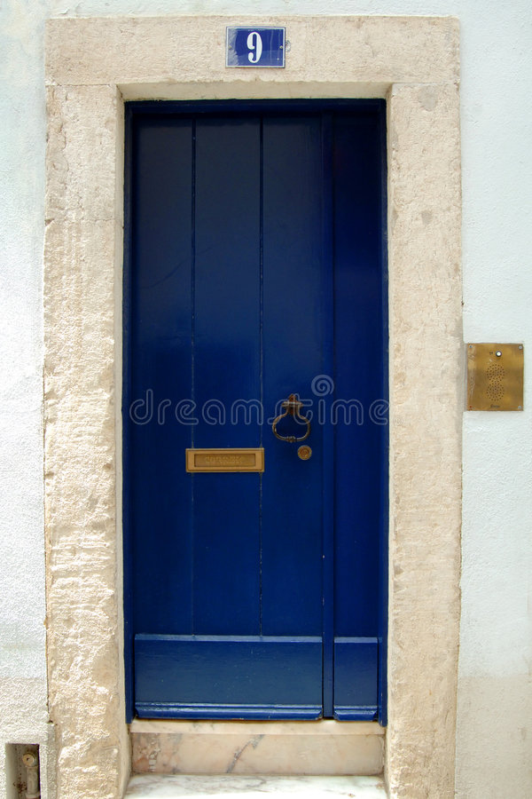 Download Blue door stock photo. Image of blue, address, entryway - 6125828
