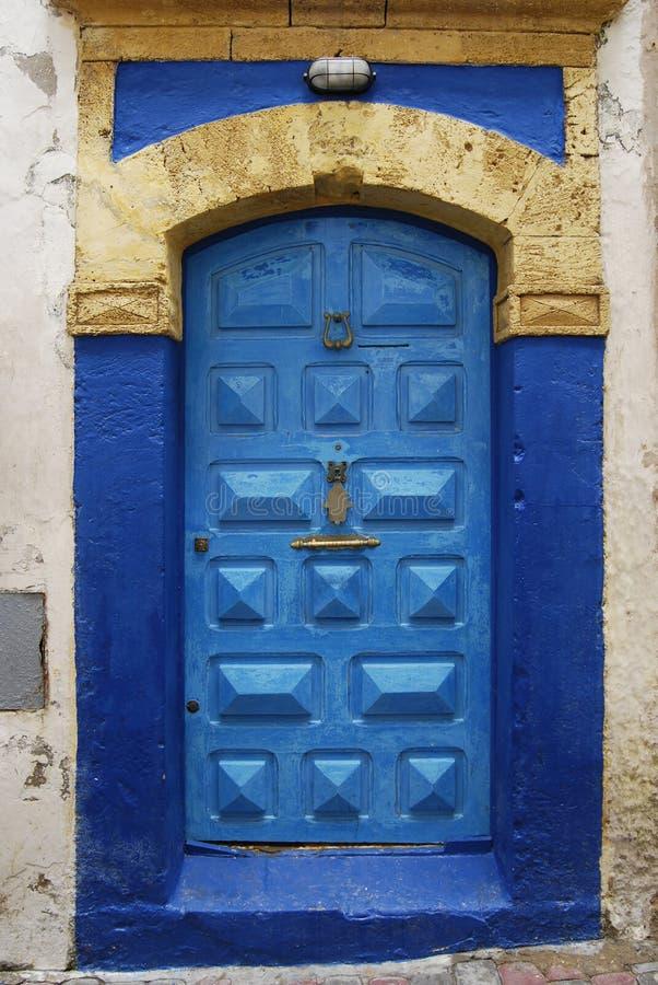 Blue Door With Fatima Hand Symbol Stock Image Image Of Moroccan