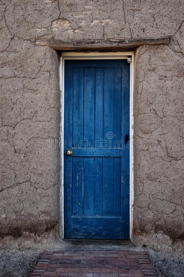 Free Blue Door In Adobe Architecture Royalty Free Stock Images - 149669299