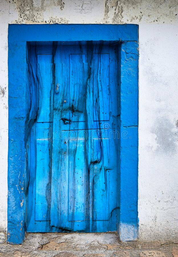Special Blue door royalty free stock image