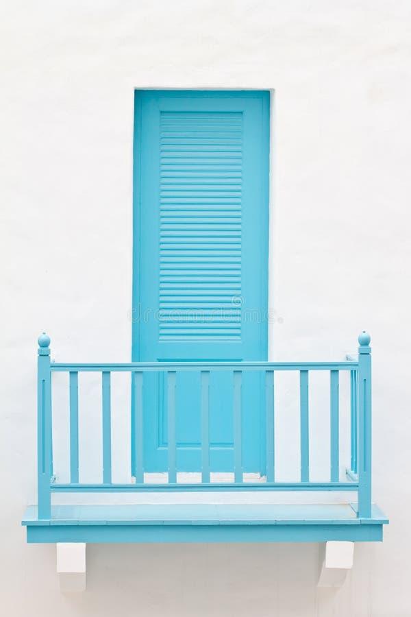 Blue door and terrace