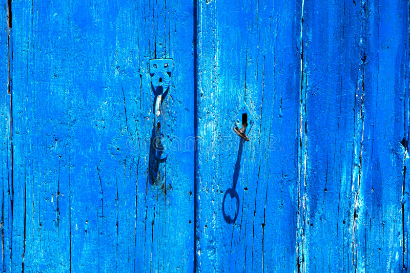 Blue door royalty free stock photos