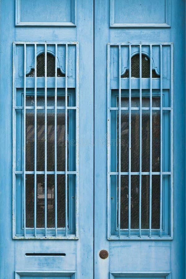 Blue Doors Royalty Free Stock Photography