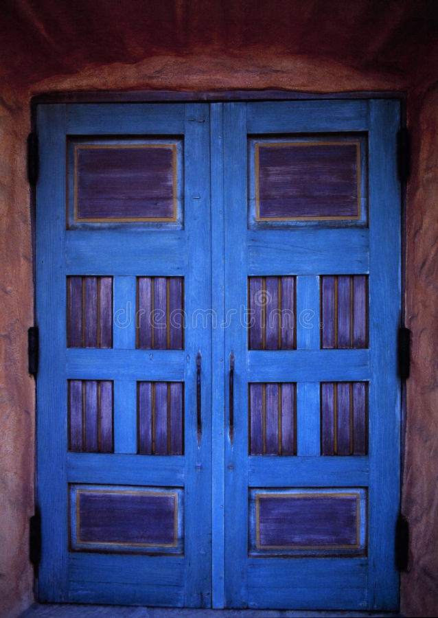 Blue doors royalty free stock photo