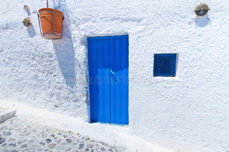 Download Blue doors of Santorini stock image. Image of national - 26285281