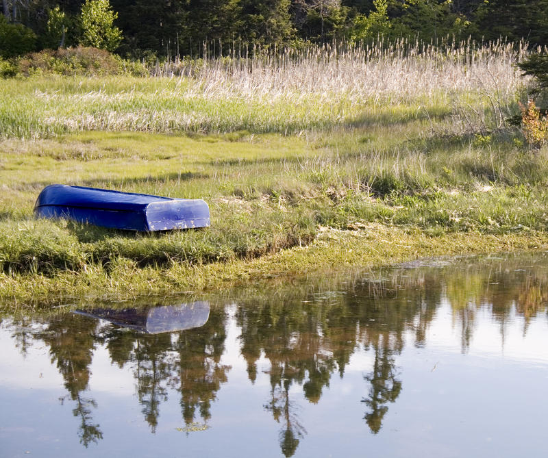 Download Blue Dory stock photo. Image of rowboat, outdoors, dory - 25791382
