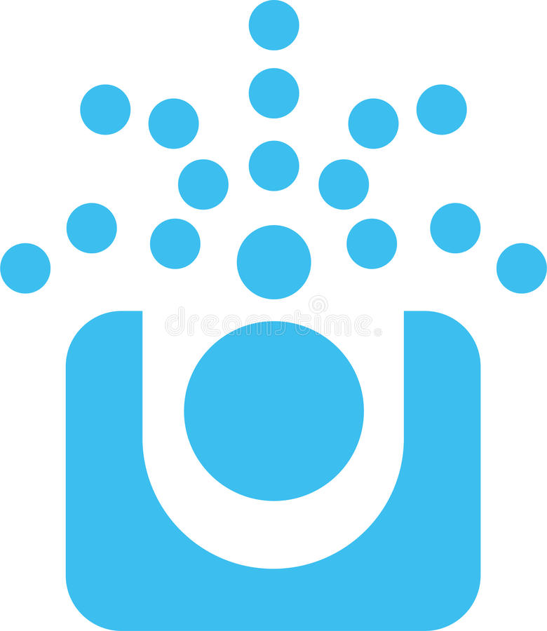 Blue dots logo stock images