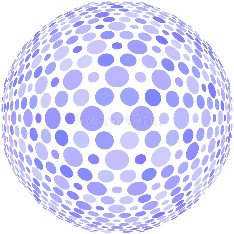 Free Blue Dots On A Sphere Stock Photo - 4951140