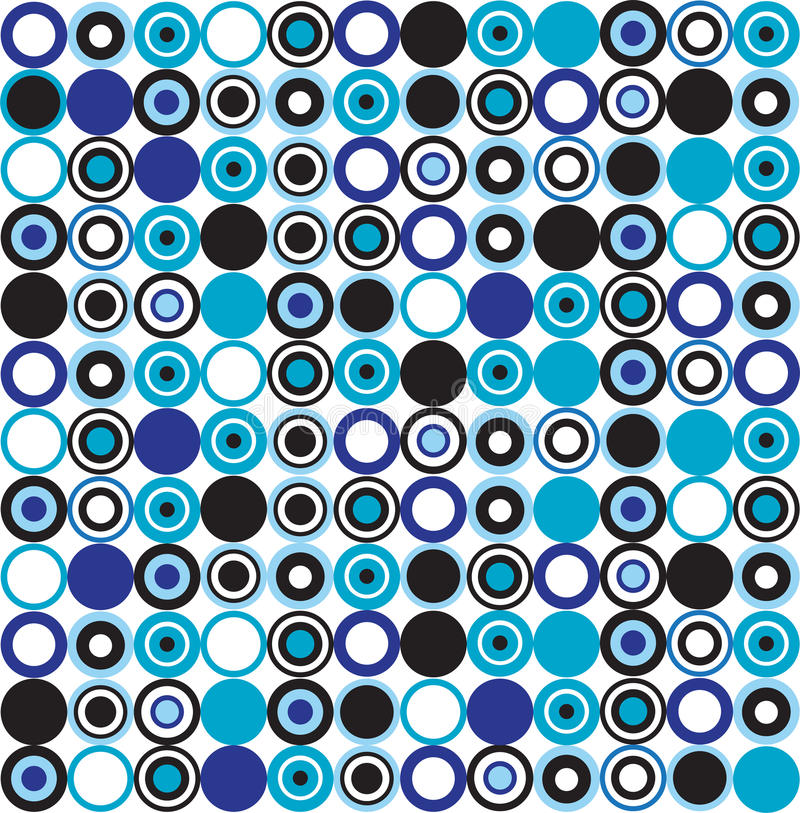 Blue dotted pattern royalty free illustration
