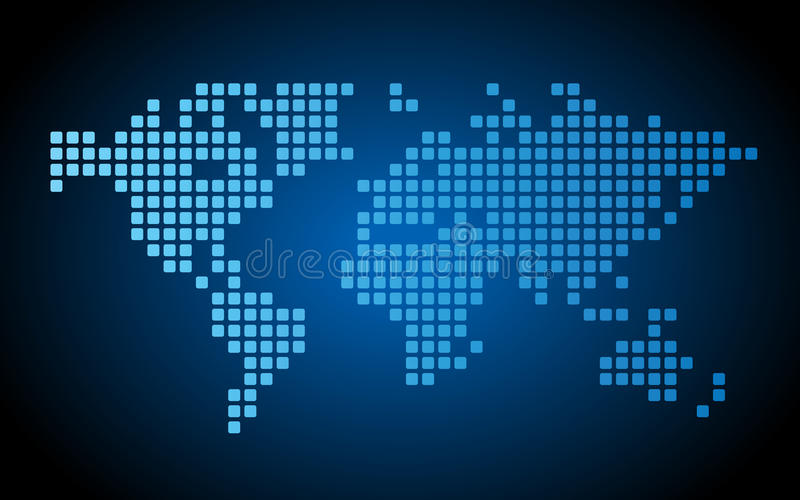 Dotted world map stock illustration