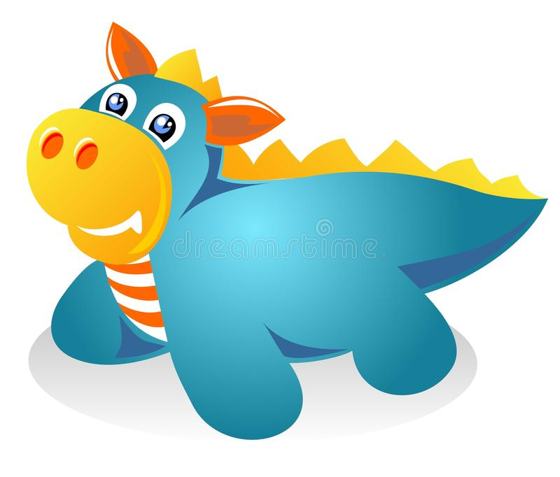 Download Blue dragon stock vector. Image of amusing, illustration - 22087577