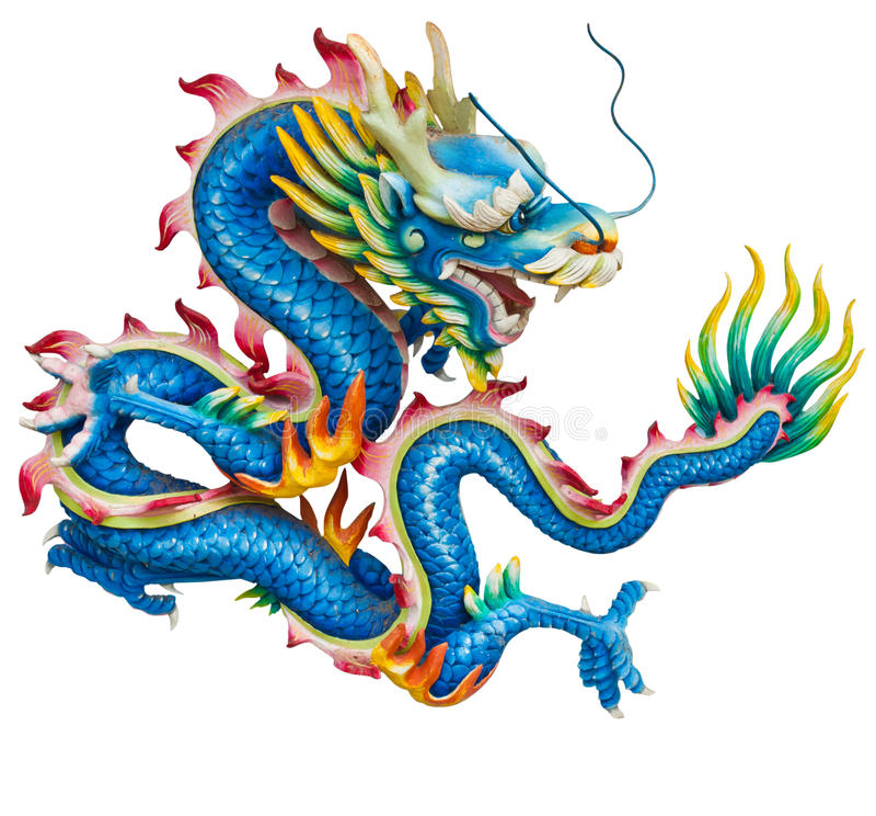 Free Blue Dragon Isolated On White Royalty Free Stock Photo - 21437715