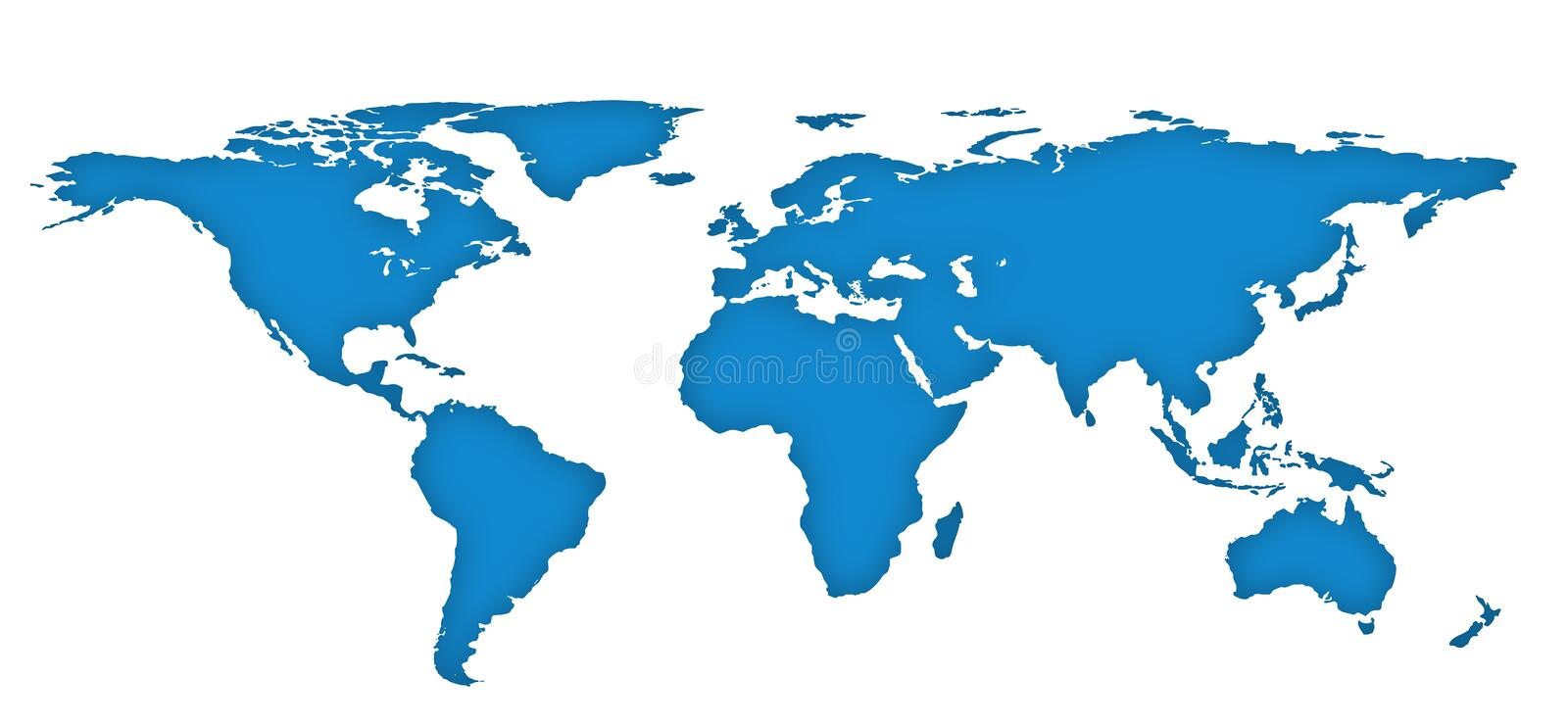 Blue drawing outline world map isolated on white background stock download blue drawing outline world map isolated on white background stock illustration illustration of gumiabroncs Gallery