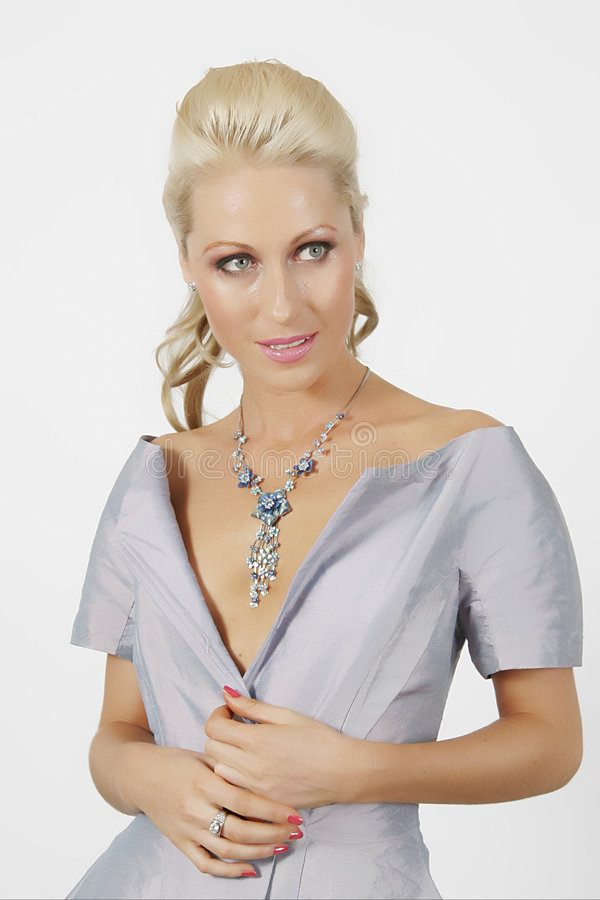 Blue dress royalty free stock photos