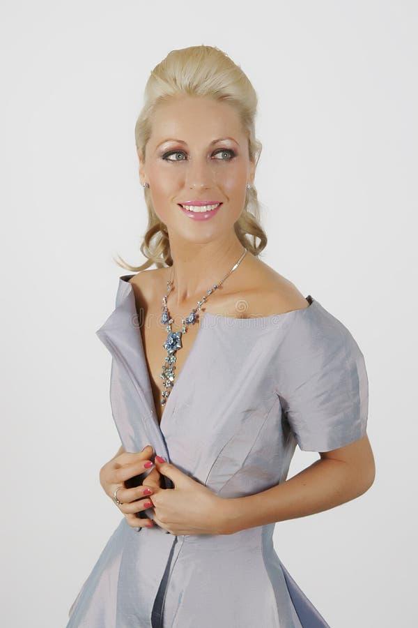 Blue dress royalty free stock image