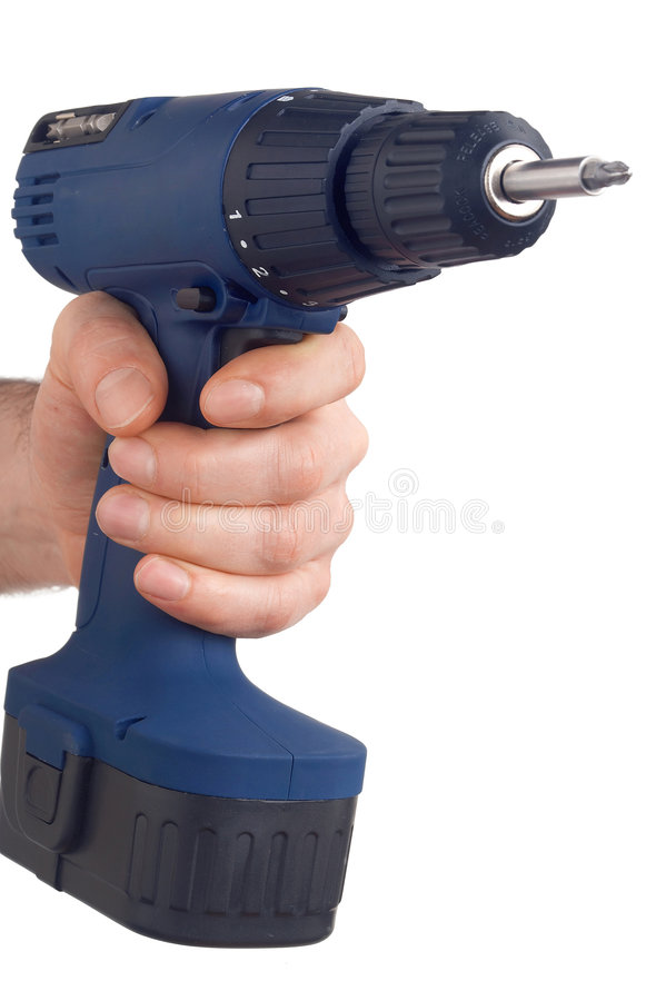 Download Blue Drill - Blaue Bohrmaschine Stock Photo - Image: 552446