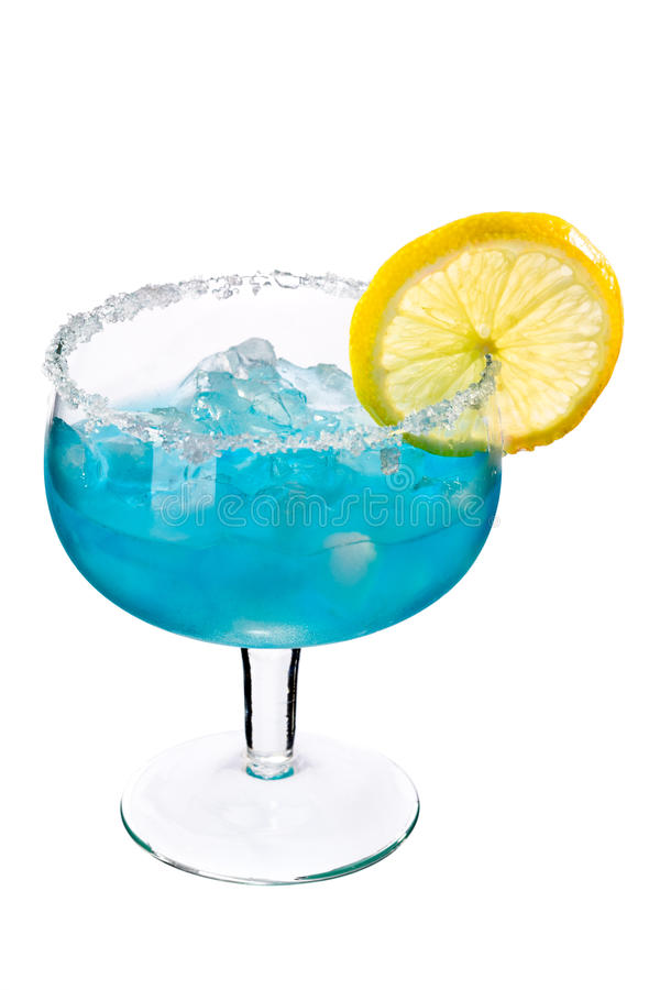 Free Blue Drink With Ice And Lemon Royalty Free Stock Photos - 15448798