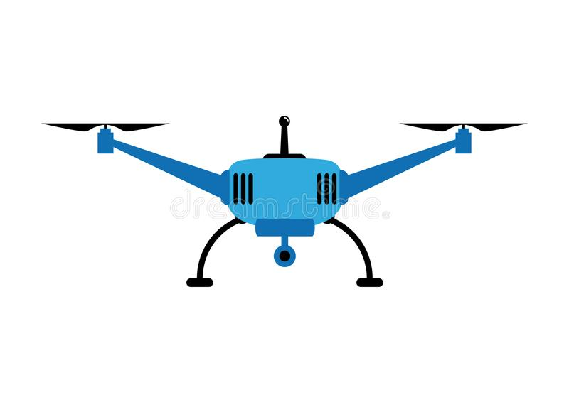Blue drone. On a white background vector illustration