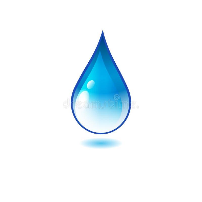 Water drop icon or logo stock photos