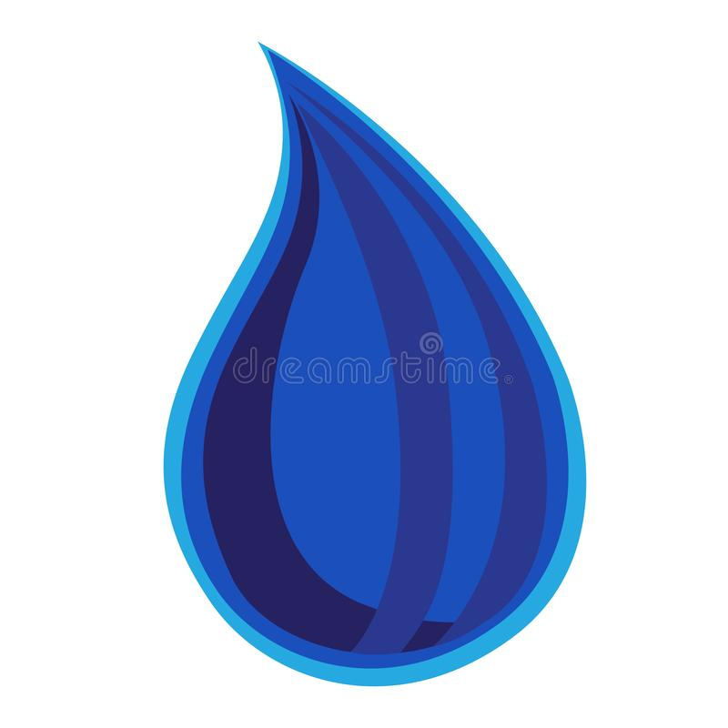 Blue drop of water will fall , vector, illustration, isolate. Blue drop of water will fall i, vector, illustration, isolate vector illustration