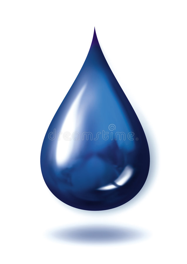 Blue droplet. Photoshop Generated