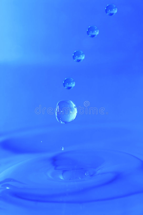 Download Blue Drops stock image. Image of water, movement, blue - 679789