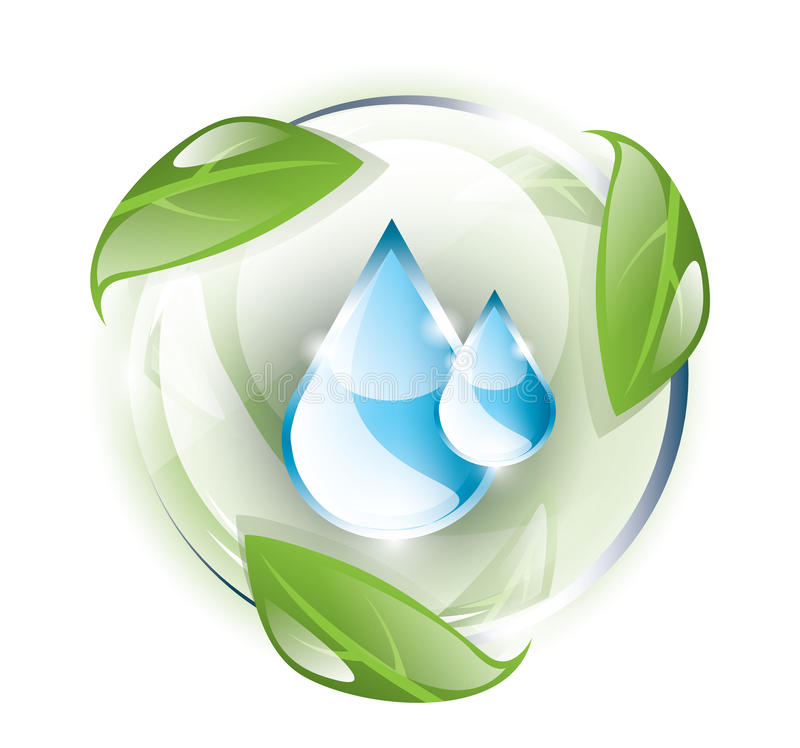 Free Blue Drops, Recycle Motif Royalty Free Stock Photography - 30233637