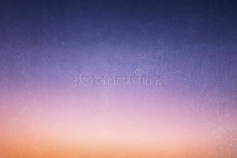 Blue dusk dawn sky shade pastel gradient colours with texture for background royalty free stock photography