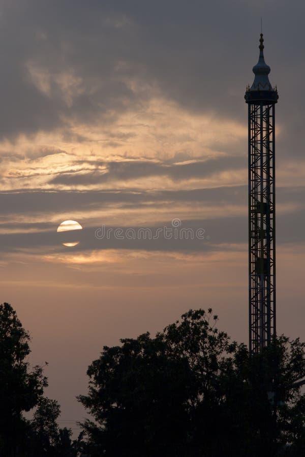 The blue dusk stock image