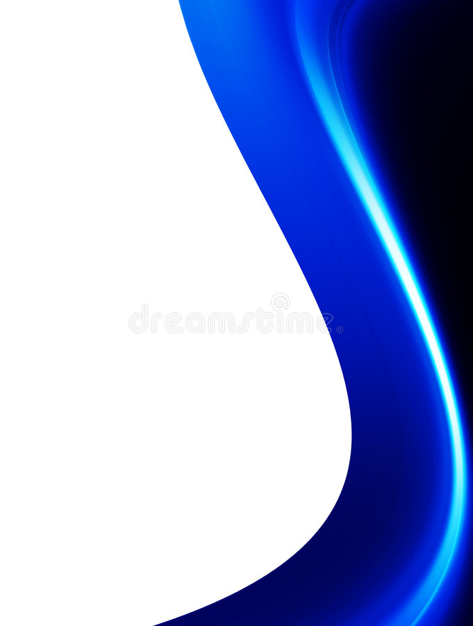 Blue dynamic background. Blue wave on white background. abstract illustration royalty free illustration