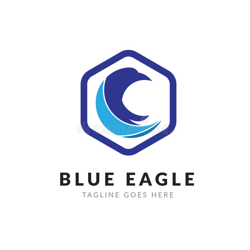 Blue Eagle Logo template stock photo