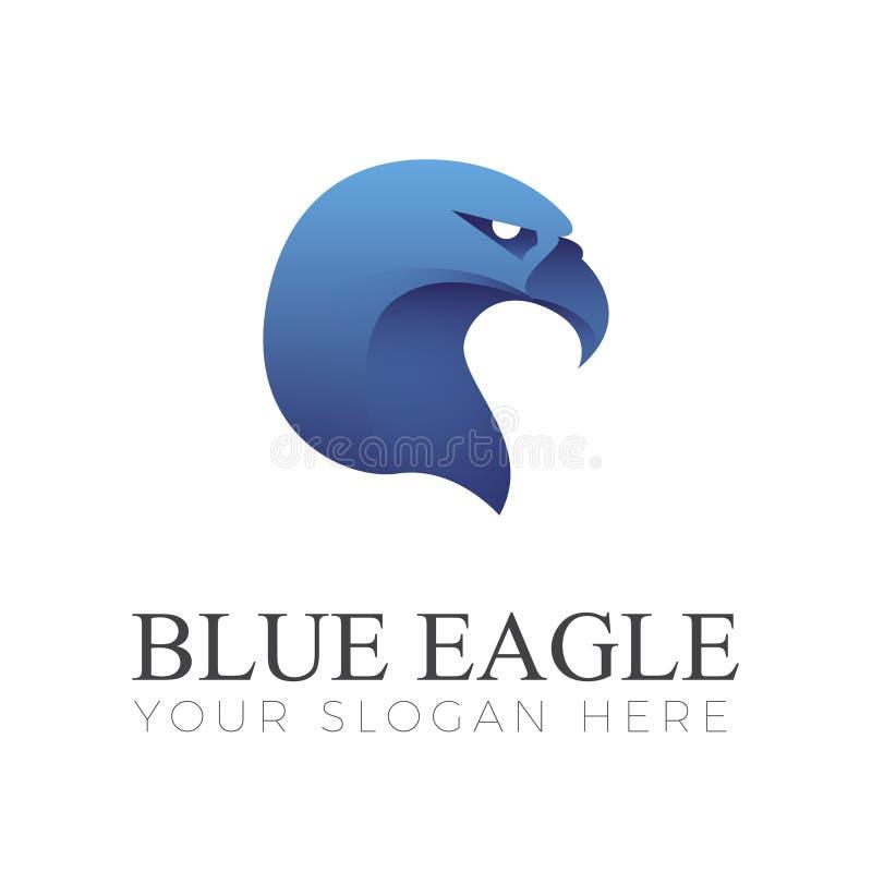 Blue Eagle Logo stock illustration