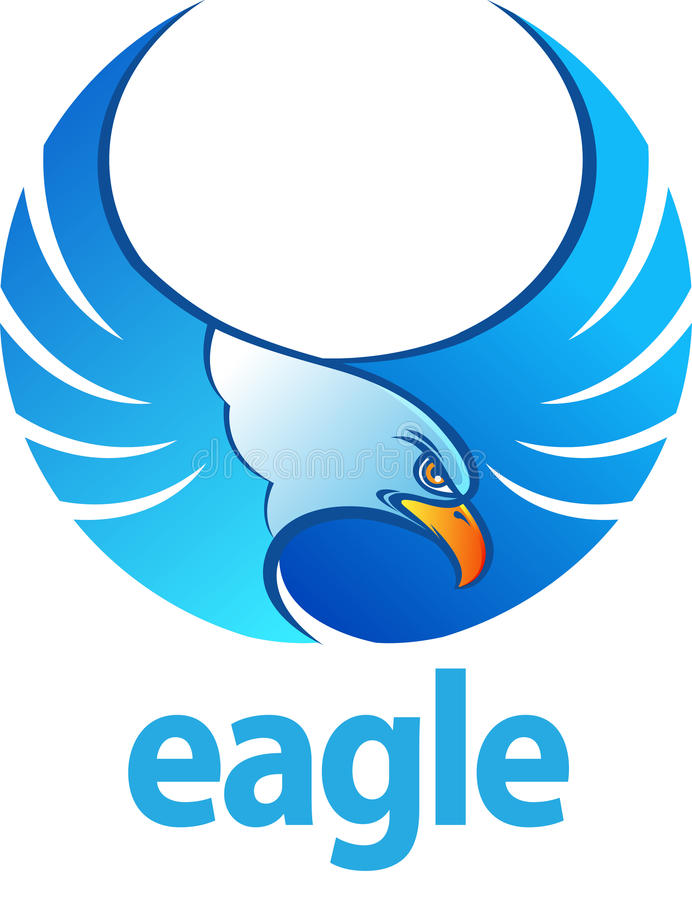 Blue Eagle royalty free illustration
