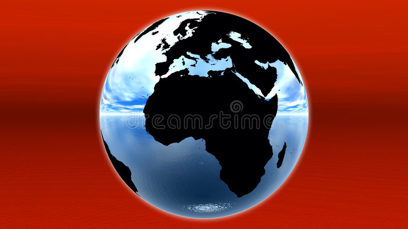 Download Blue earth stock illustration. Image of africa, atmosphere - 7078641