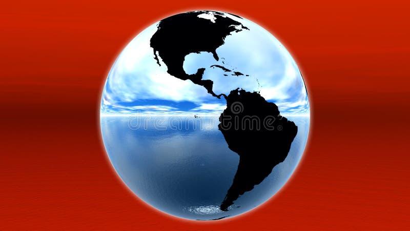 Blue earth vector illustration